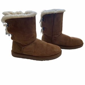 Ugg Bailey Bow Chestnut Short Boots Customized